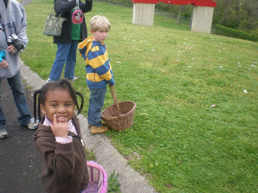 Kaleya & Jackson get ready to go hunt eggs