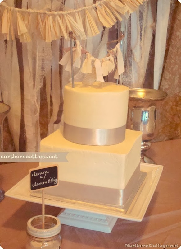 Cake Topper Garland {Northern Cottage}