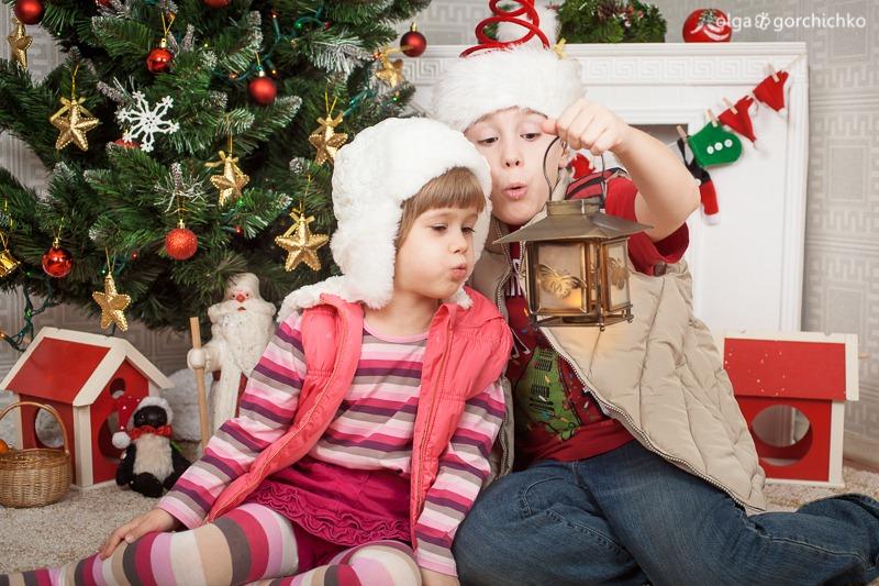 Детский новогодний фотопроект Рождественские мечты. 11 Полина и Миша-8864
