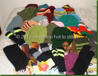 2012 AIM beanies hats ansd wristwarmers