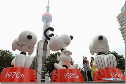 Snoopy at Pearl Square , IFC Mall, LuJiaZui, Shanghai 史努比。上海 07