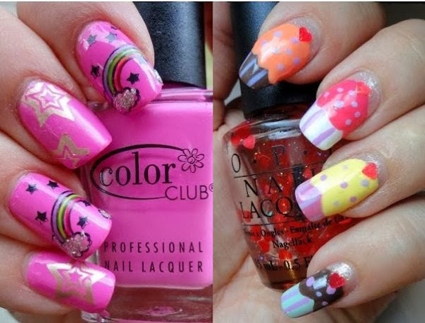 Cute Girly Nail Designs Nail Designs Hair Styles Tattoos And