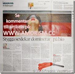 DSC06073 (1) artikel om BDSM i tidningen Dagens Nyheter den 150211 med amorism
