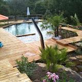 Piscine naturelle Woodeo  réalisation Aquasud Paysage partenaire Aquatiss et Modern Pool