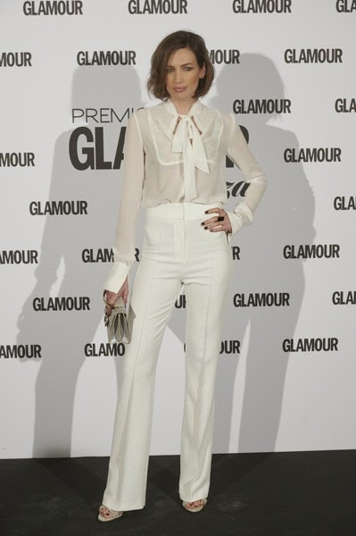 Nieves Alvarez Arrivals Glamour Beauty Magazine