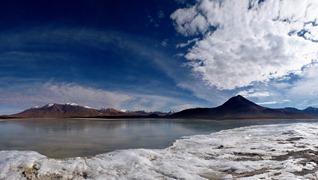 Frozen Laguna Blanca, Southwestern Bolivia.