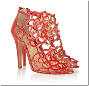 Oscar de la Renta cut out leather sandals