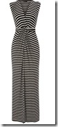 Black and ivory striped maxi dress