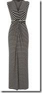 Black and ivory striped maxi dress