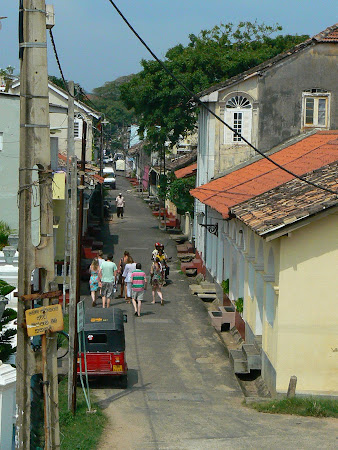 Sights of Galle: old town's streets