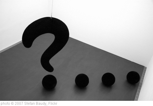 'Question!' photo (c) 2007, Stefan Baudy - license: http://creativecommons.org/licenses/by/2.0/