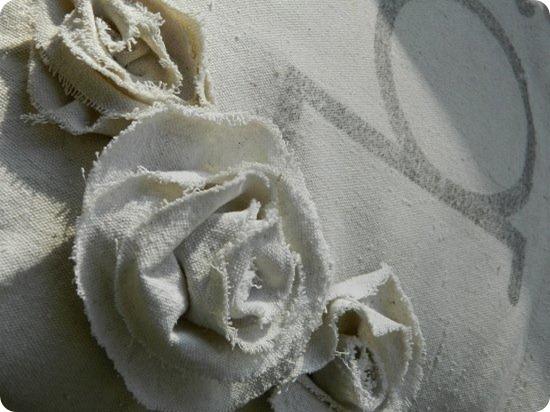 Drop Cloth Monogrammed Pillow 2
