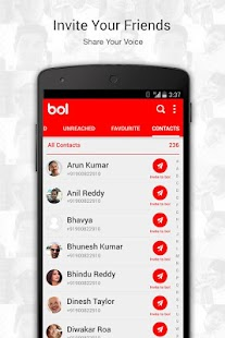BOL Voice Messaging App - screenshot