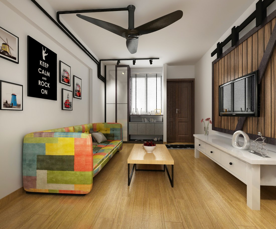 Industrial Minimalist Design Concept By Ace Space Design Pte Ltd HDB 3 Room  Located At Clementi Ave 3. Part 97