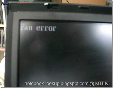 แก้ปัญหา Fan Error ใน IBM Thinkpad T60