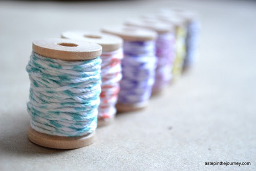 How to make your own bakers twine at A Step in the Journey