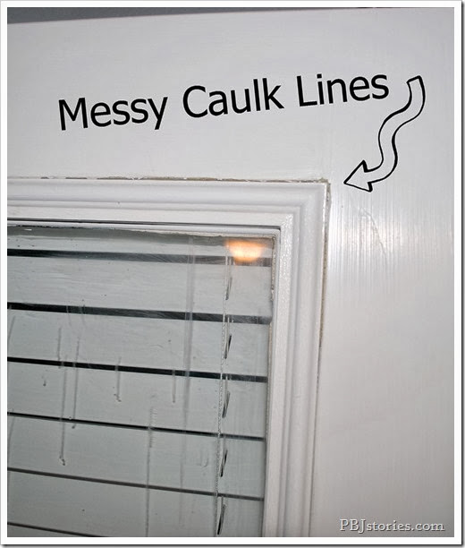 how to fix bad caulk lines