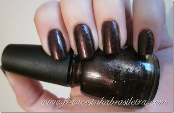 Side saddle China Glaze