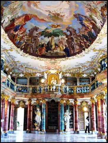 Bibliothèque du Monastère de Wiblingen, Ulm, Allemagne