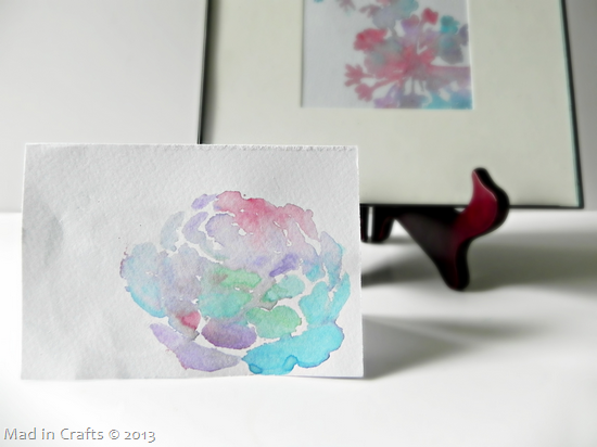 Stenciled Watercolor Card