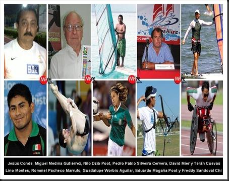 Los 10 yucatecos Olimpicos 1968-2012