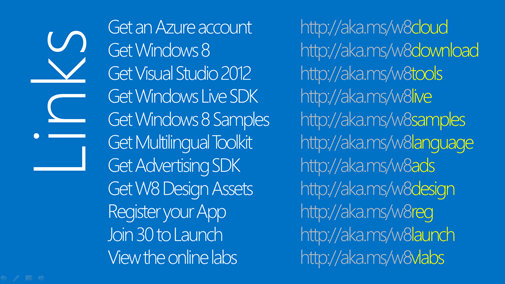 Windows 8 Resources and Links Cheat Sheet