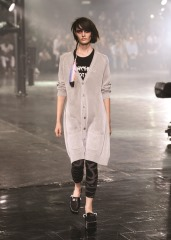 A model walks the runway at the Y-3 Spring/Summer 2014 show during Mercedes-Benz Fashion Week on September 8, 2013 in New York City.