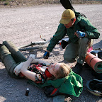 Женя упала на спуске к Бришу