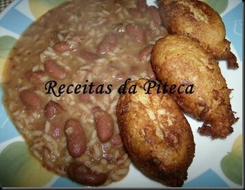 Pastéis de peixe- arroz de feijão