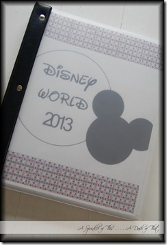 Disney Binder Cover {A Sprinkle of This . . . . A Dash of That}