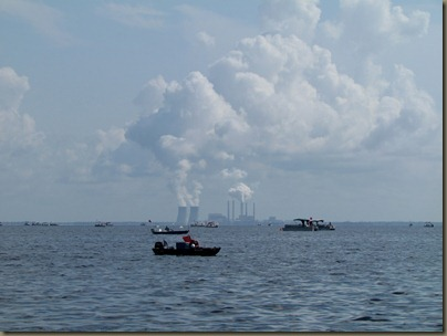 Crystal River Nuclear power plant and lots of scallop boats