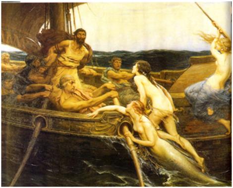 Herbert Draper, 'Ulises y las sirenas'.