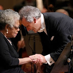 Maya Angelou and Louis Langrée after h