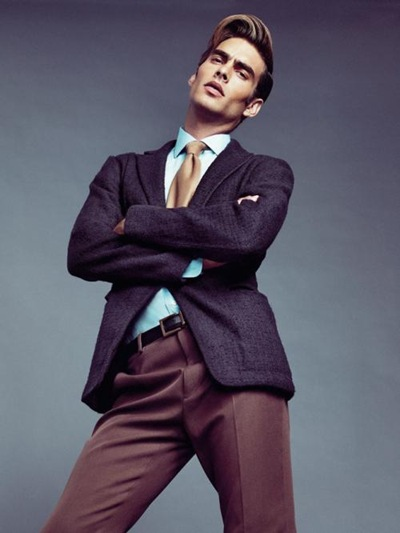 Jon Kortajarena by Nico for El País Semanal, October 9, 2011.  Styled by Juan Cebrián.