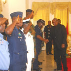 tn_DSC_0566 PREZ. MAHAMA IN A HANDSHAKE WITH SOME SECURITY CHIEFS.JPG