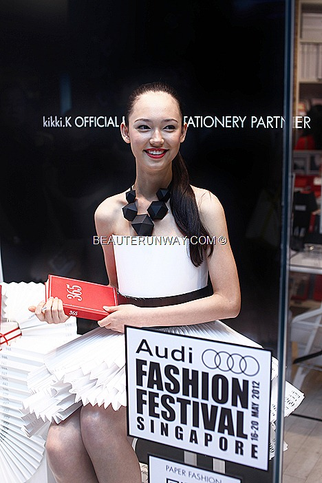 FIONA FUSSI AUDI FASHION FESTIVAL 2012 ELITE MODEL WINNER 2011 kikki.K Paper Dress ION ORCHARDaccessories 365 Days Journal
