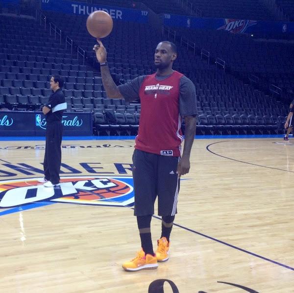 LeBron James Rocks Nike LeBron 9 Low 8220Floridians8221 During Practice