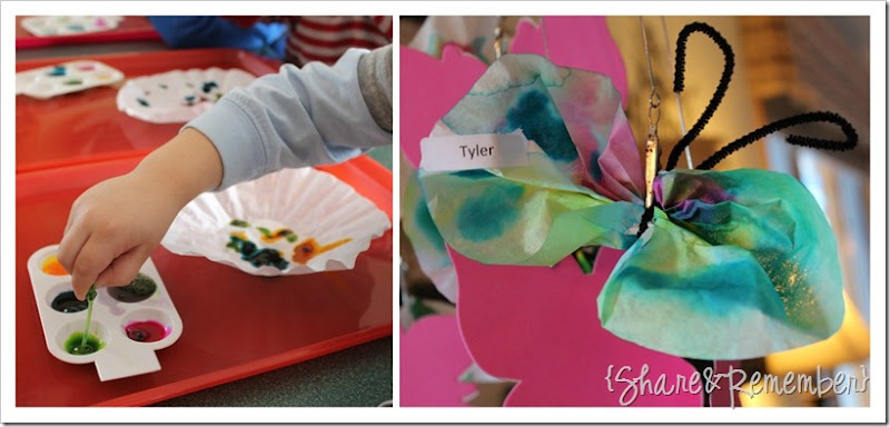 Coffee Filter Watercolor Butterflies