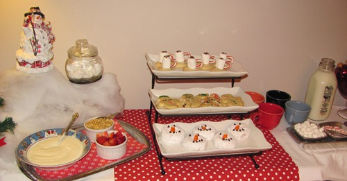 snowman breakfast party