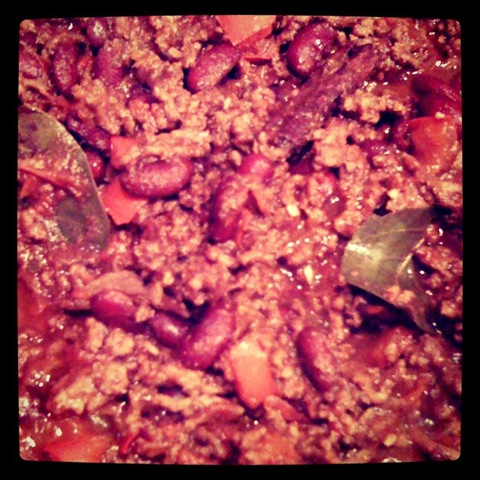 #9 Bubbling batch of Thomasina Miers' chilli con carne