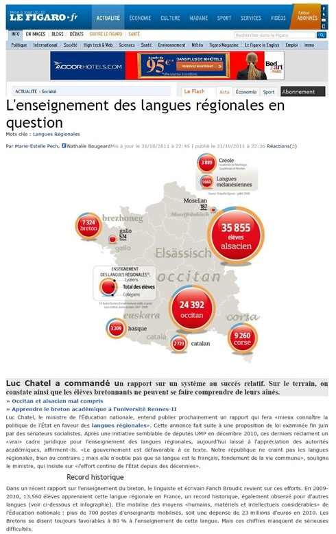 enseigner les langues de France LeFigaro 011111