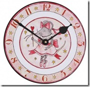 Mousie Ballerina Clock