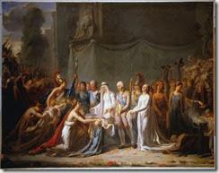 Allégorie de Louis XVIII recevant les clés de Paris