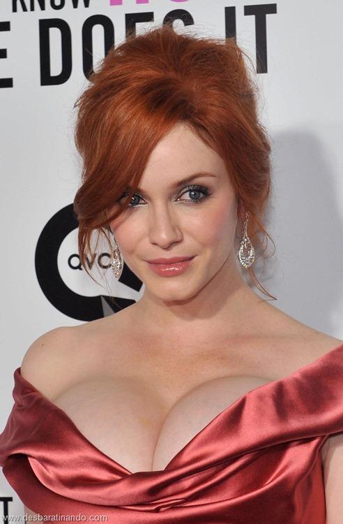 Christina Hendricks linda sensual sexy sedutora decote peito desbaratinando (81)