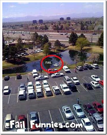 Car Parked in Lake.