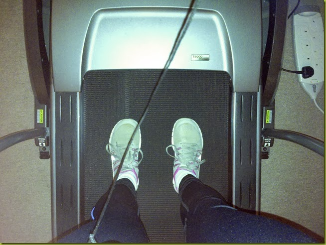 on a treadmill