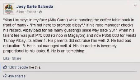 Joey Salceda on FB