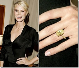 Heidi Klum With Her Yellow Diamond Engagement Ring