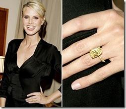 Heidi Klum With Her Yellow Diamond Engagement Ring