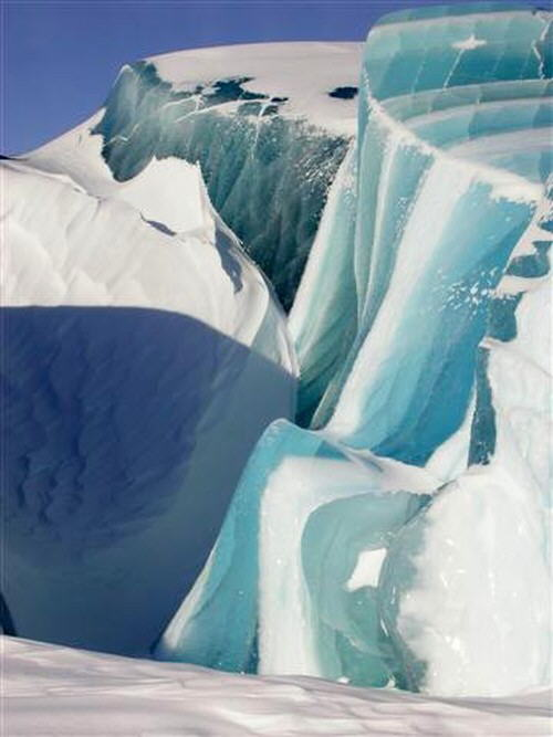 This is actually a glacier. Really impressive